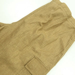 J Crew Cotton Linen Tan Drawstring Capri Pants 10